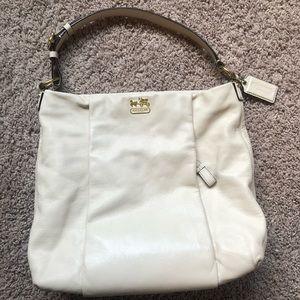 Authentic genuine leather Coach shoulder bag
